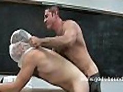 Man wrapped in latex is tied up
