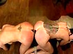 Bondage with ropes two babes share the same tori tarra bobbi love rocco toy