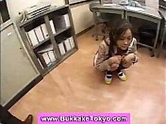 Japanese teen in miniskirt bukkaked
