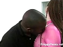 Black guy licks and fingers big fat pubic busty womans wet pussy