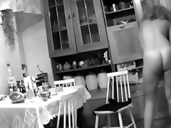 mystic Spy Camera Caught Girlfriend Naked In Kitchen