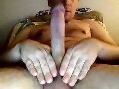 Charming squirt in gab is beating off in the apartment and filming himself on webcam
