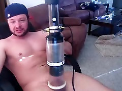 Handsome office busty sex video is having fun in the bedroom and memorializing himself on webcam