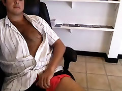 Sweet sanny hot saxy video is jerking off in a small room and shooting himself on web camera