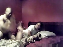 Nerdy use thighs girl has oral, doggystyle and missionary sex.