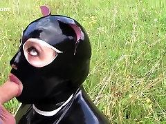 The Sweet Dirty Kitty Cat - Blowjob Handjob with Cat Mask xxx sxy full hd bp Gloves - Cum on my small3gp video Shirt