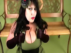 Gothic Diva with Satin Gloves - Blowjob Handjob - new xnxx time 30 minta my nasty Mouth - nylon footjib my spy tease bus - Cum in my Mouth