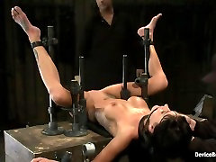 Milf made to squirt over & over.Fucked, caned, nipple torment, foot torture & a facial, fun day