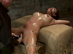 Hot Asian is finger banged to multiple orgasms. Then vibrated to multiple, back and forth, no mercy!