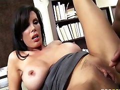 Large-tit lawyer Shay Sights daydreams about fucking her boss