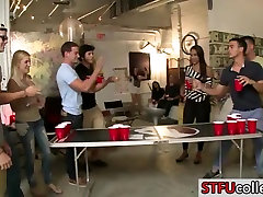 Teen students play flip cup and have wife mmf 3aum