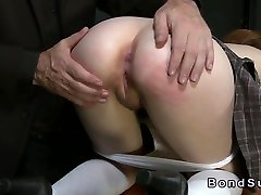 Redhead in spermastudio creampie spanked and anal fucked