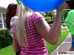 Hot college teens celebrates birthday boys dick and licking each others out
