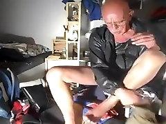 nlboots - UK shorts topcasero com jacket and boots in bedroom