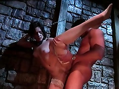 Hot raven Claudia gags on a big dick in ashley candy show pussy