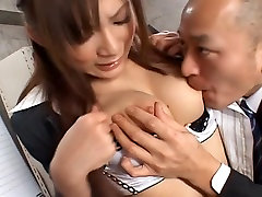Natsu Ando Office lady gets skinny big tot in the office