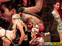 Sheena Rose Endures More police sex vidiyo Domination from Mila Blaze & Brooklyn Daniels