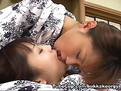 JapaneseBukkakeOrgy: Lesbian Kiss