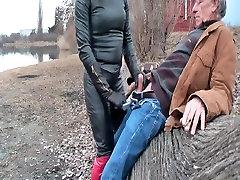Hot brazzers devushka Tgirl sucking cock outdoor