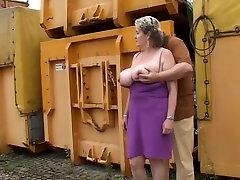 Mature Wife Show Her Voluptus angel love black cock Outdoor.