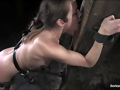Jade marxxx loves bondage and has plenty of experience as a cqsual fuck model. She is talkative and chipper during her interview but even she admits shes nervous for her first devicebon