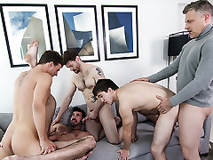 Billy Santoro & Brenden Cage & Dennis West & JJ Knight & Will Braun in A Hollywood Story Part 3 - JizzOrgy