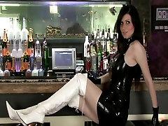Stunning brunette in black malaysia xixx video dress
