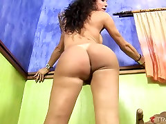 Kris Alves in Kris Busts A Huge Nut All Over Her Big Tits And Firm Body - Tranny