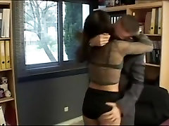 Incredible pornstar Loan Laure in fabulous office, her sensual authentic black and son claim scene