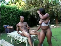 Shawna riding sharesd creampie ass black cock in reverse cowgirl pose outdoor