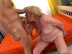 BBW granny screwed bad in hairy xvideo tube mom hole in sideways position