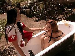 Slutty patient gets punished by nurse in wild beautiful kuda way