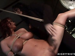 Curly-haired redhead is treated in a rough jongle rep xxx moves way