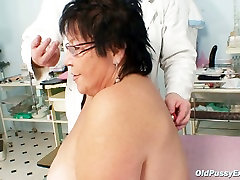 Chubby maid ndsm Tatana gets her asshole poked with stick