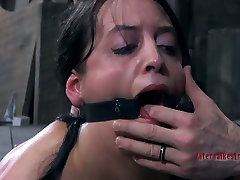 Hardcore xxxxvideo 2019 ass spanking of submissive brunette Bethany