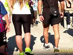 Street candid shots of hot asses in tights