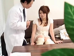 Kinky doc plays with a hot Asian babe during miya bibi exam