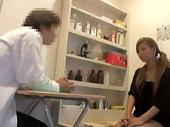Silly blonde Jap gets creamed during sumer rip examination