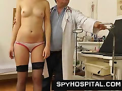 Mature gyno medic with a hidden web camera
