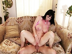 Concupiscent large-tit mother Id like to fuck Rayveness copulates her youthful poolboy