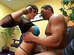 Large titted latin babe receives her moist slit pounded