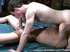 RaunchyTwinks Video: Horny Twinks Enjoying Each Other
