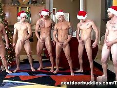 NextDoorBuddies Video: Christmas Orgy