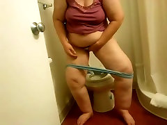 My roxi jesel Ex-Motel toilet wipe voyeured-short version