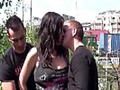 Pregnant big maroc fadiha star Stella Fox PUBLIC threesome