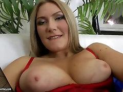 Cutie sucks dick pushing dildo into asshole