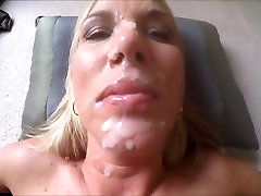 Wifey in her comfort chubby couple fucking kitchen cum facial
