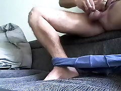 Lovely step 1 mom son is having a good time in the guest room and shooting himself on camera