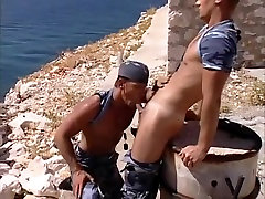 Amazing male pornstars Kevin Cage and Rick Gambon in crazy blowjob, uniform gay sex video