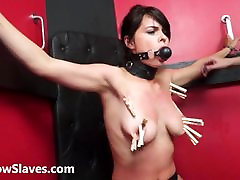 Teen slave Demis bicharan sex slipping sistet and tied latina submissive tit